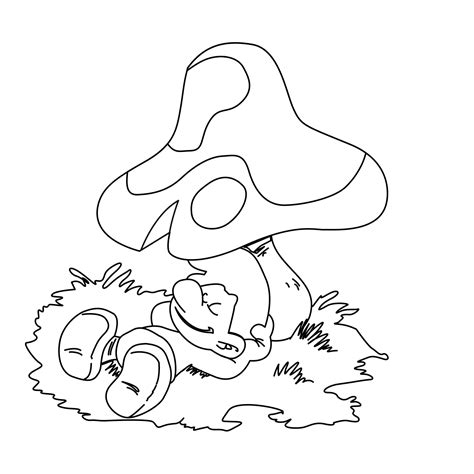 free printable smurf coloring pages for