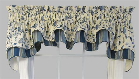 Cambridge Double Valance Vines/Stripes by Waverly