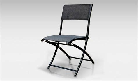 chaises pliantes pas cher chaise de jardin pliante alu textilene dcb noir mat