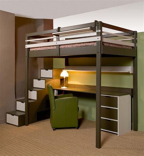 lit mezzanine avec bureau pour ado lits mezzanines urbaine