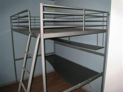 lit mezzanine metal avec bureau lit mezzanine 2 places bureau étagere tablette clasf