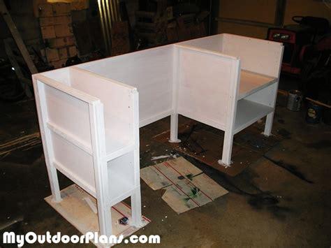 diy open face desk myoutdoorplans  woodworking
