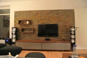 Fernsehwand gestalten stein  Fernsehwand Ideen. fernsehwand ideen f r einen tollen blickfang in ...