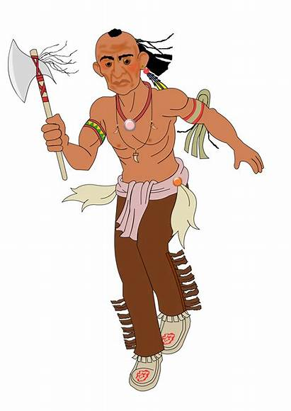 Native Transparent American Clipart Indian Indians Axe