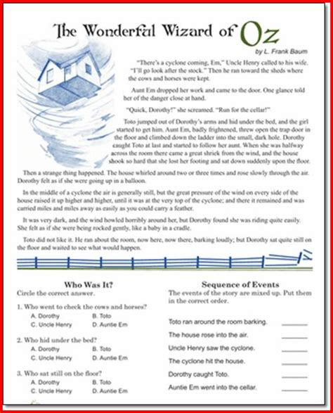 5th grade reading worksheets calleveryonedaveday