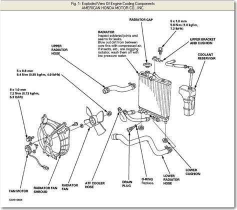 1999 honda civic cooling system diagram auto engine and
