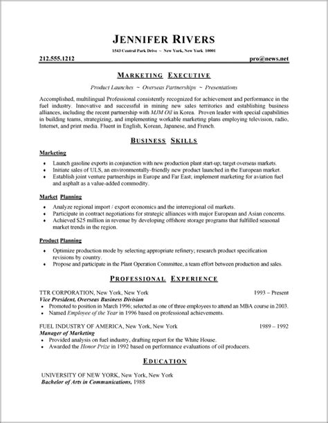 Resume Writing Format by Resume Formats Resume Format 001 Resume