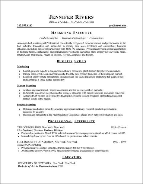 Cv Writing Format by Resume Formats Resume Format 001 Resume