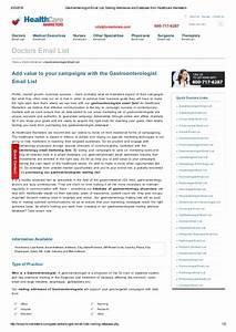 Mailing Address list of Gastroenterology Physicians