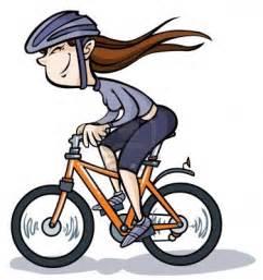 Girl On Bike Cartoon