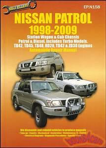 Nissan Patrol Shop Manual Service Guide Repair Book 4wd