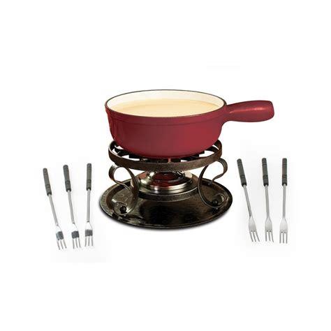 swissmar kf 66517 lugano 2 quart cast iron cheese fondue set 9 cherry k m