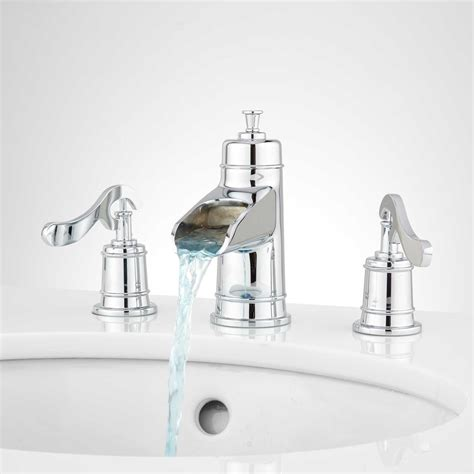 waterfall bathroom faucet chrome melton widespread waterfall bathroom faucet bathroom