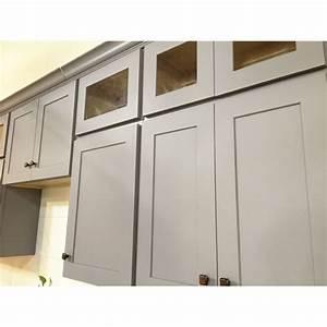 Assembled Kitchen Cabinets Beige Tile Pattern Ceramis