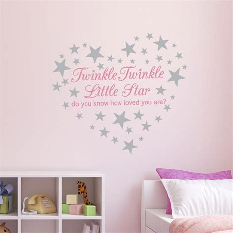 Check out our star wall decor nursery selection for the very best in unique or custom, handmade pieces from our wall décor shops. Pink Twinkle Twinkle Little Star Wall Sticker/ Nursery Decal /60 silver stars | eBay