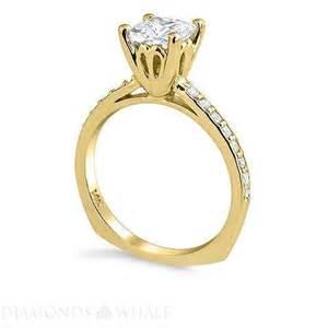 princess cut engagement rings gold princess cut engagement ring yellow gold ebay