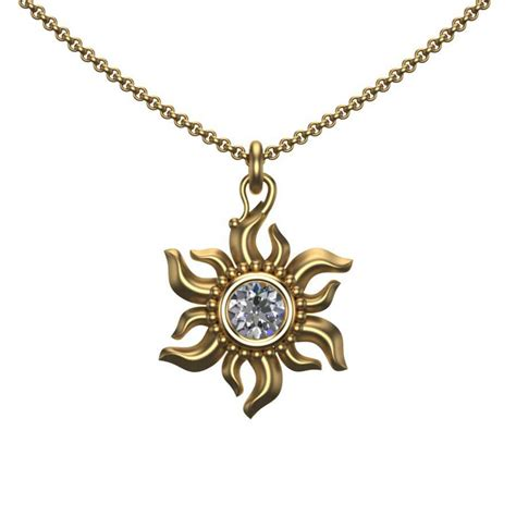 diamond sun pendant in 18k gold official jewelry by design website
