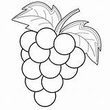 Grapes Coloring Pages Fruits sketch template