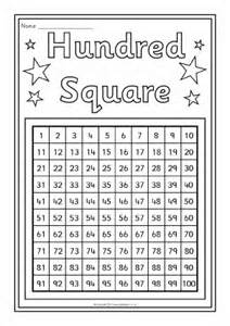 Printable Number Grid 100 Square