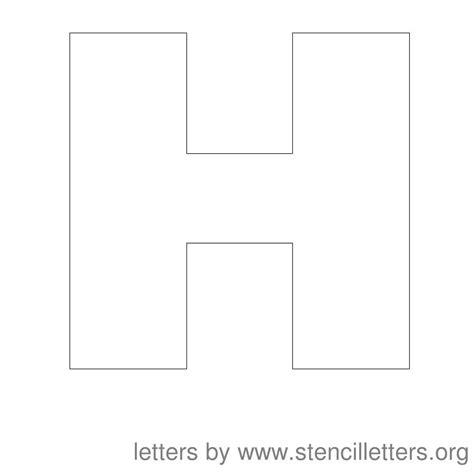 letter h template printable letter stencils h letters