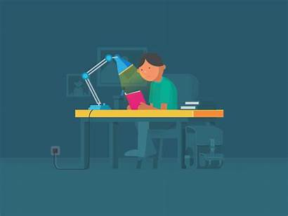 Studying Study Dribbble Animation Resources Everynight Icon