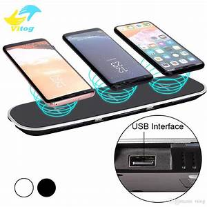 12v  3a 3 In 1 Qi Wireless Charger Charging Pad With Usb