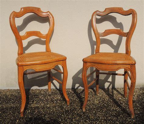 chaises louis philippe cannées paire de chaises cannées merisier louis philippe