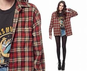 90s Grunge Fashion 90s plaid shirt red grunge | Fashion ...
