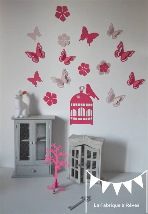 decoration papillon chambre fille paihhi