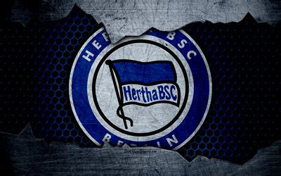 wallpapers hertha  logo bundesliga metal