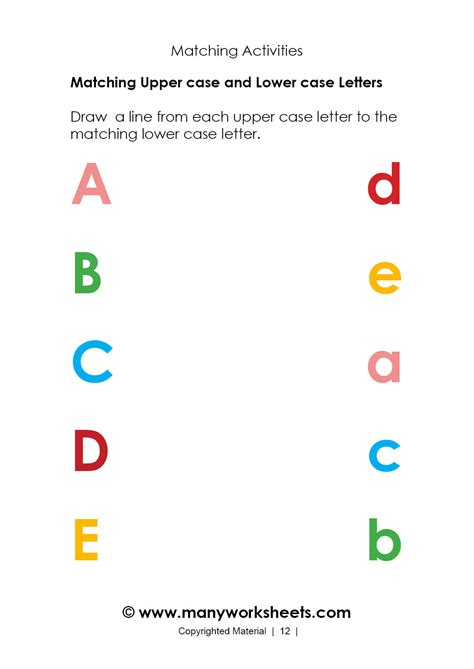 kindergarten matching uppercase  lowercase letters