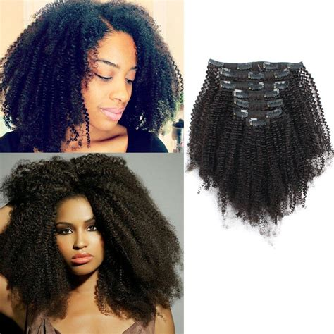 clip  hair extension afro coily
