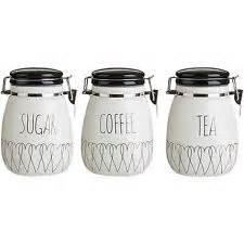 ceramic kitchen canisters ceramic tea coffee sugar jars ebay