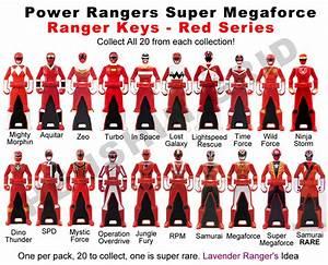 images of all the red power rangers keys   Power Ranger ...