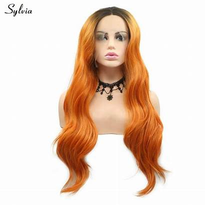 Wigs Synthetic Lace Sylvia Roots Ombre Loose