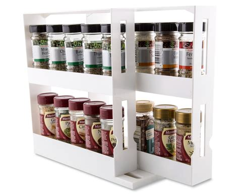 Store N More Spice Rack by Slide N Store Cabinet Organiser White Scoopon Shopping