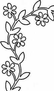 Quilt Stencil Floral Vine 4'' Border