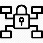 Security Icon Network Digital Lock Networking Icons