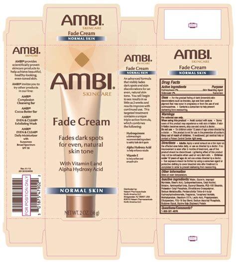 ambi fade normal skin cream valeant pharmaceuticals