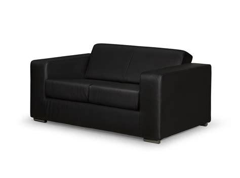 canapé simili cuir noir canapé design 2 places en simili cuir noir