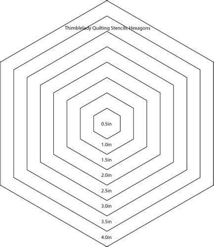 hexagon quilt template hexagon quilting stencil