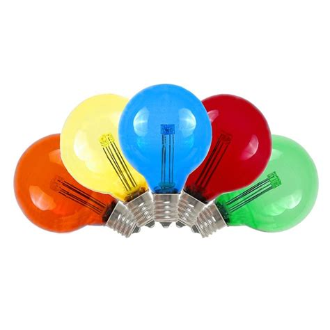 buy multi colored led g40 glass globe light bulbs