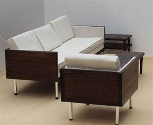 barbie furniture mid century modern sofa chair table 1 6 With scale of furniture for living room