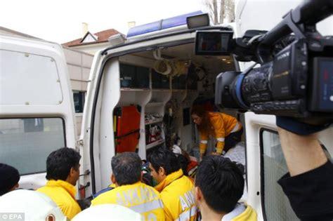 Person On Ambulance Stretcher