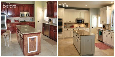 painted bathroom cabinets before and after before after kitchen remodel pinterest painting