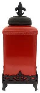 fleur de lis kitchen canisters fleur de lis canister set large traditional kitchen canisters and jars by trends