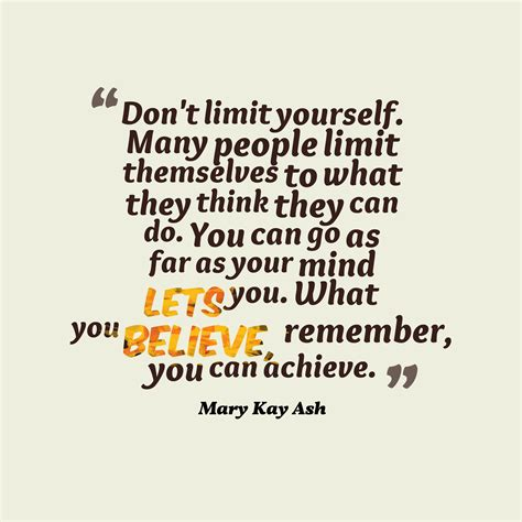 mary kay ash quote  mind
