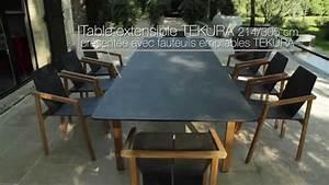 Table En Teck Jardin : table et fauteuils tekura les jardins salon de jardin ~ Melissatoandfro.com Idées de Décoration