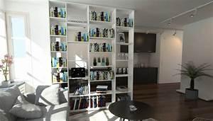Raumteiler Wohnzimmer Essbereich : raumteiler als b cherregal neben der k che meine m belmanufaktur ~ Frokenaadalensverden.com Haus und Dekorationen