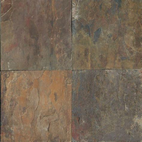 home depot 12x12 tile ms international rustique earth 12 in x 12 in gauged